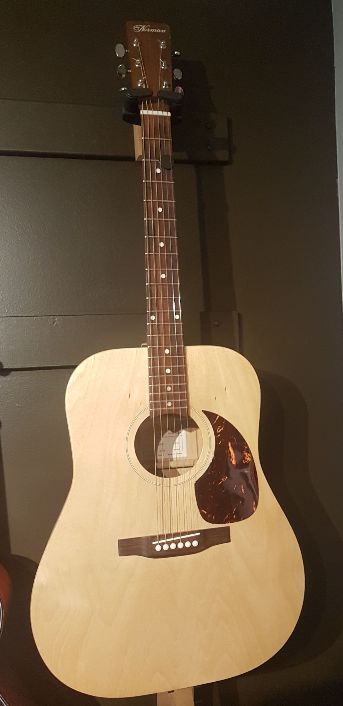 Norman guitars founded 1972 and taken over by Godin 1988