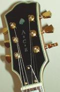 ACE guitar headstock