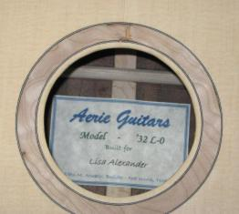 Aerie guitars label