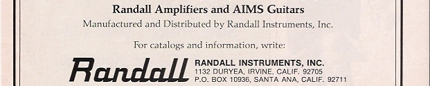 Aims Guitar Randall instruments