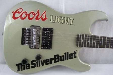 Dean Coors light The Silver Bullet guitar