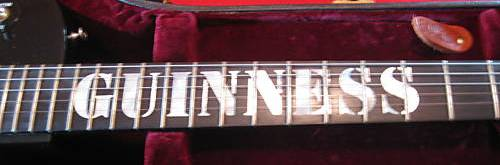 Guinness guitar neck