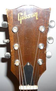 Gibson headstock of Jack Daniels guitar