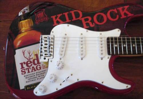 Kid Rock promo Jim Bean Red Stag guitar