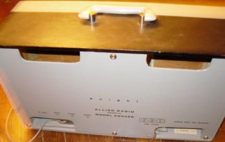 Allied Radio Knight Amplifier white