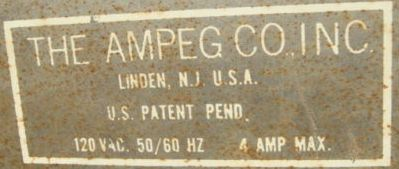 Ampeg Co Inc, Linden New Jersey USA