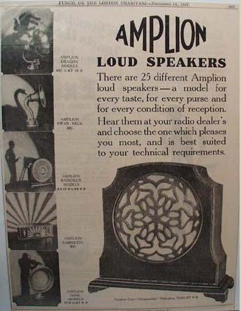 Amplion loud speakers amp brochure