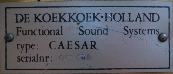DE KOEKKOEK - HOLLAND Fnctional Sound Systems Caesar guitar amplifier