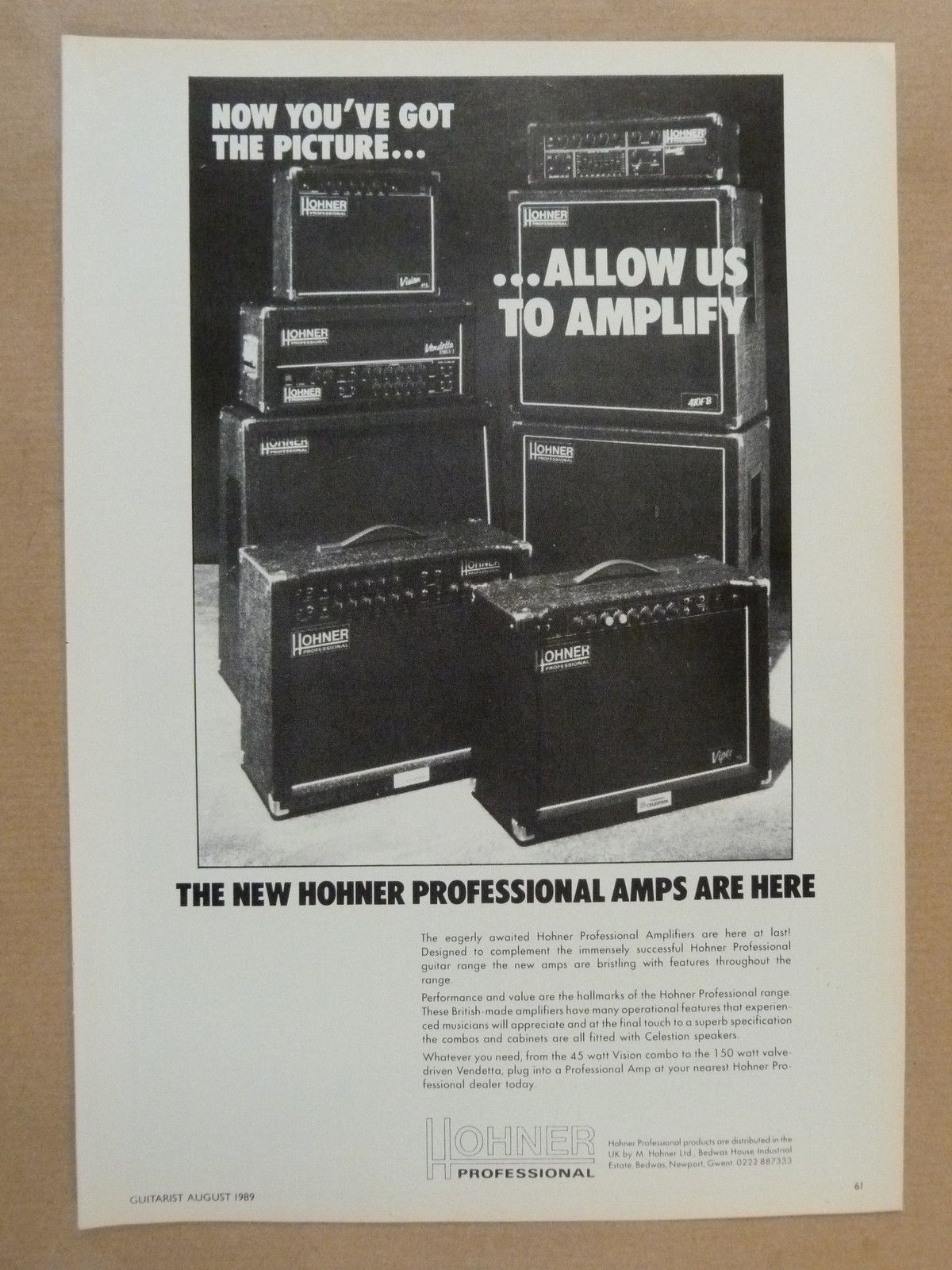 Hohner amps 1989