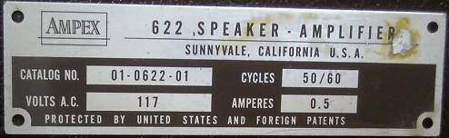 Ampex speaker amplifier Sunnyvale California