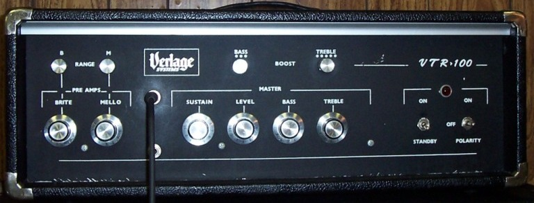 Verlage Canadian amplifier head