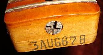3 Aug 67 B Telecaster neck date
