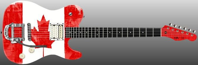 Canadian flag guitar Maple leaf