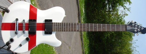 England flag St George guitar