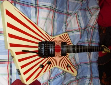 Rising Sun flag guitar
