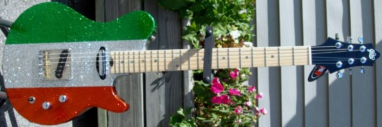 Irish Ireland flag guitar