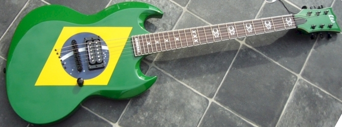 Brazil flag  LTD guitar