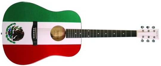 Mexico flag guitar