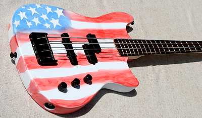 MTD USA Flaf bass guitar