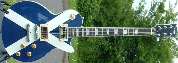 St Andrew's Flag of Scotland guitar