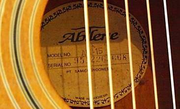 Abiliene guitar label made in Indonesia