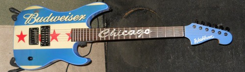 Budweiser Chicago guitar