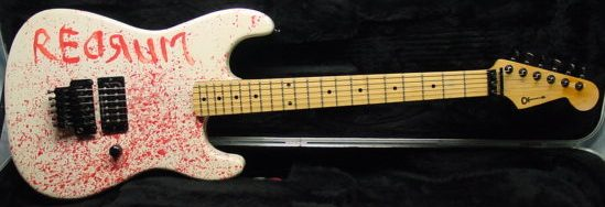 Violent Guitars A Collection Of Blood Splattered Musical Weapons