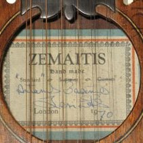 Zemaitis guitar label