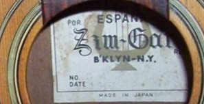 Zim-Gar guitar 1963  - Made in Japan