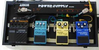 Arion Power Supply Effects Pedal Board PSB-06
