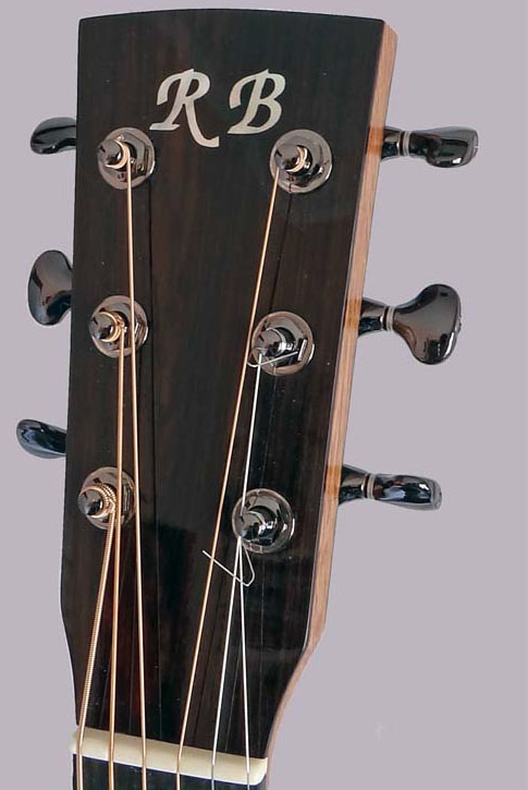 Ron Belangor guitar headstock
