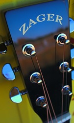 Zager guitar headstock