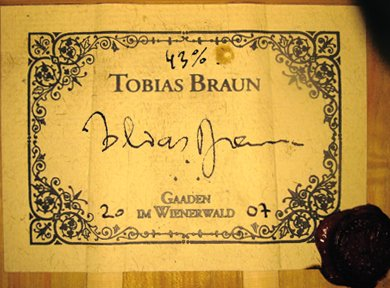 Tobias Braun guitar label
